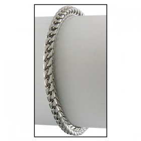 WHITE GOLD PLATED FRANCO HIP HOP BRACELET